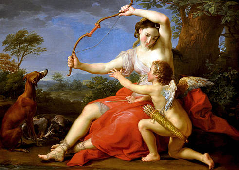 Diana and Cupid by Pompeo Batoni