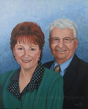 Dick and Joy Casual Portrait by Kathie Papasso