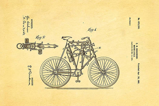 Ian Monk - Dickerson Motor Cycle Patent Art 1901