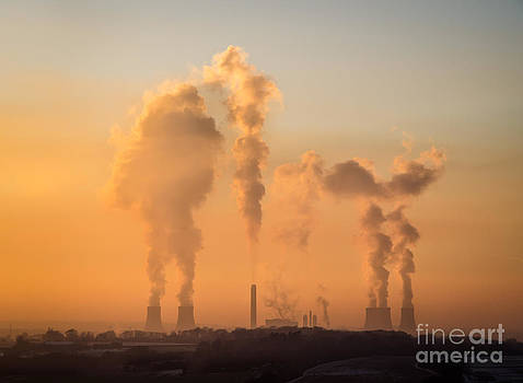 Didcot power station at dusk - Oxfordshire by OUAP Photography