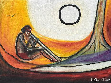 Didgeridoo Player by Judith Chantler