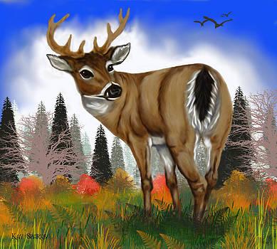 Digital Deer by Kay Sparks