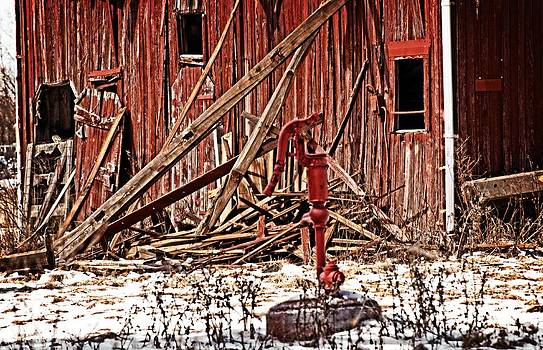 Dilapidated Barn And Pump by Cheryl Cencich