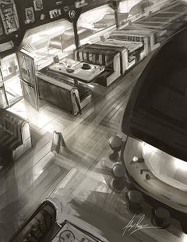 Diner Interior by Alex Ruiz