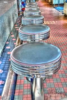 Diner Stools by Kathleen Struckle