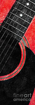Andee Design - Diptych Wall Art - Macro - Red Section 2 of 2 - Giants Colors Music - Abstract