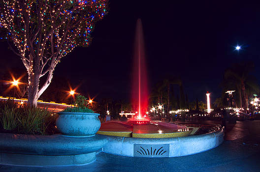 Disney Fountain at Night by Greg Amptman