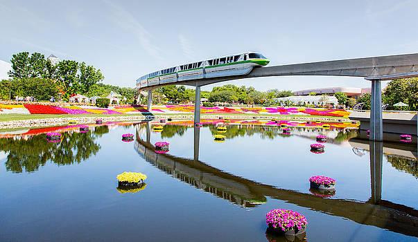 Disney World Epcot Monorail by Sam Amato