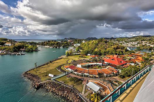 Distant rain near the port in Castries St. Lucia by Craig Bowman
