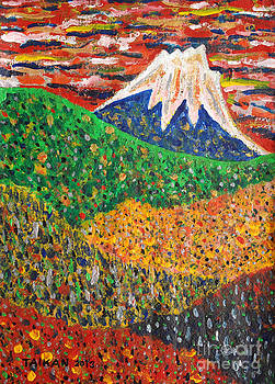 Distant View Of Mt. Fuji by Taikan Nishimoto by Taikan Nishimoto