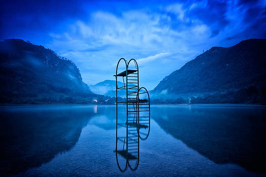 Diving Board at Dusk by Nermin Smajic