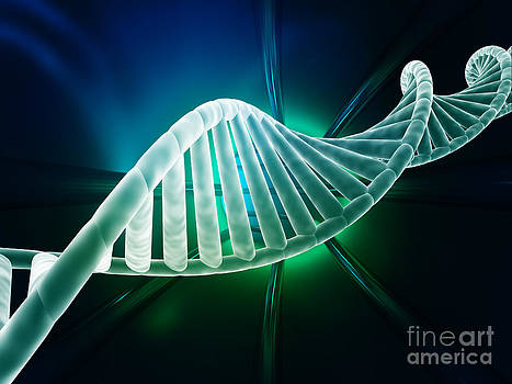 DNA strand modern design by Monika Wisniewska