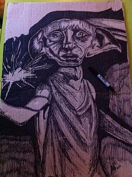 Dobby on cardboard by Alessandro Cedroni