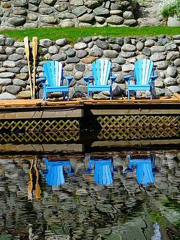Dock Chairs - Coquitlam, British Columbia by Ian Mcadie