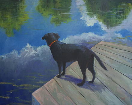 Dock Dog by Elaine Hurst