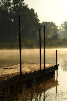 Dock in the mist by Kimberleigh Ladd