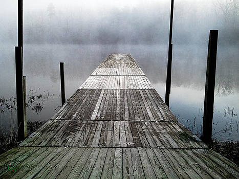 Dock in the Mist by L and D Design Photography