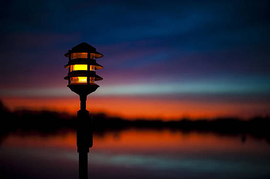 Dock Light At Sunset by Eleanor Ivins