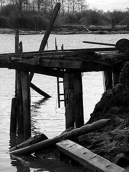 Dock on the Fraser River by Kathy Mellish