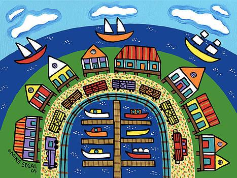 Dock Street-Cedar Key by Mike Segal