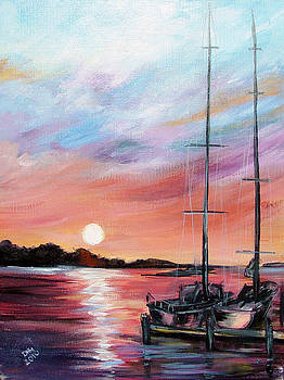 Docking - at Sunset by Dorothy Maier