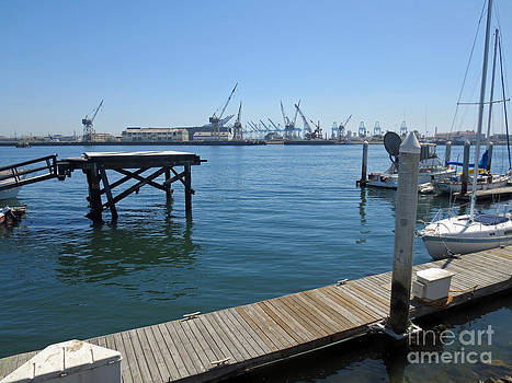 Docks in the L.A. Harbor 1 by Scott Shaw