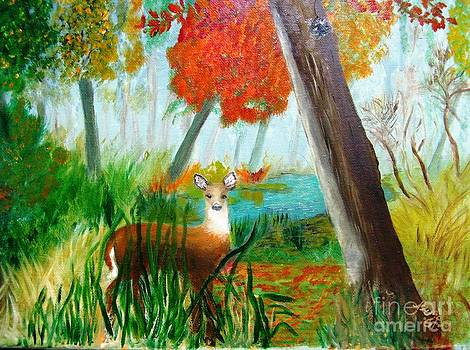 Doe on a Misty Fall Morning by Betty and Kathy Engdorf and Bosarge