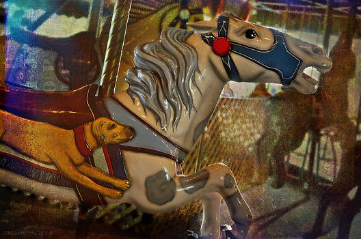 Dog And Horse Carousel by Cat Whipple