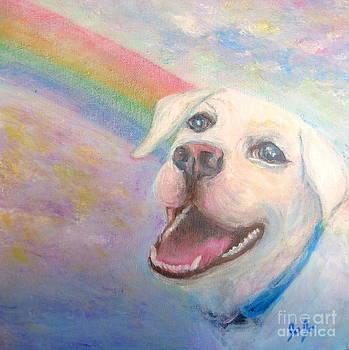 Dog Angel Over The Rainbow by Jodie  Scheller