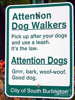Christine Stack - Dog Sign
