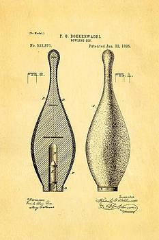 Ian Monk - Dokkenwadel Bowling Pin Patent Art 1895