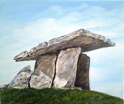 Dolmen The Burren by Pauline McCarville