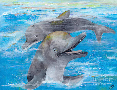 Dolphin Play by Jacalyn Hassler Yurchuck