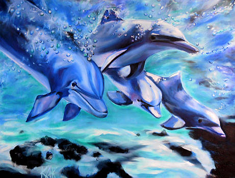 Dolphins by Art by Kar