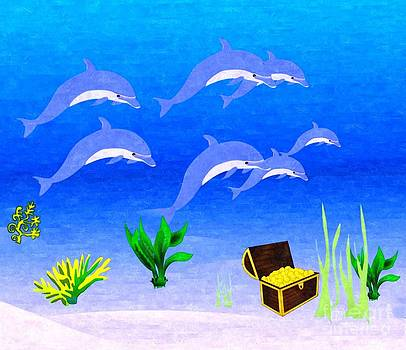 Dolphins by Larry Stolle