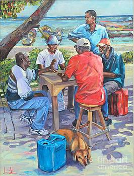 Domino At Seaside by Jeffrey Samuels