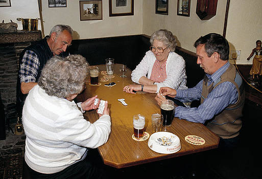Dominoes game in a pub UK by David Davies