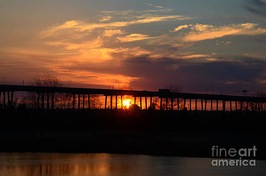 Dale Powell - Don Holt Bridge Sunset over the Cooper River