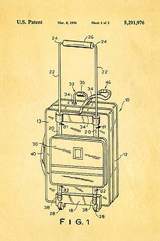 Ian Monk - Don Ku Wheeled Collapsible Luggage Patent Art 1994