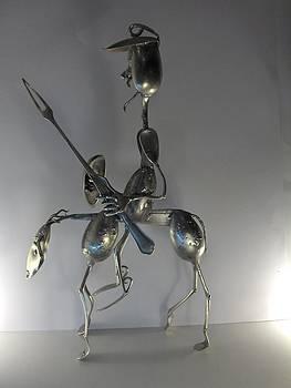 Don Quichotte   by Dalu sculpteur Anticonformiste