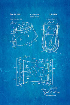 Ian Monk - Donovan Disposable Diaper Patent Art 1951 Blueprint