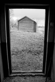 Door Frame B/W by Fredrik Ryden