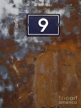 BERNARD JAUBERT - Door in scrap metal  and number 9