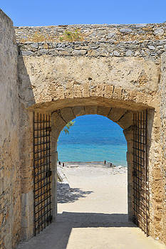 Door to joy and serenity - beautiful blue water is waiting by Matthias Hauser