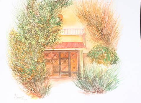 Door with Foliage by Ashima Kaushik