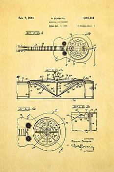 Ian Monk - Dopyera Dobro Guitar Patent Art 1933