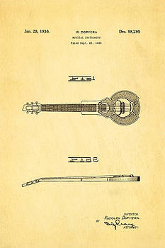 Ian Monk - Dopyera Dobro Hawaiian Lap Steel Guitar Design Patent Art 1939