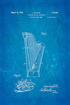 Ian Monk - Dopyera Harp Patent Art 1930 Blueprint
