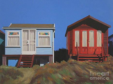 Dorset Beach Huts by Linda Monk