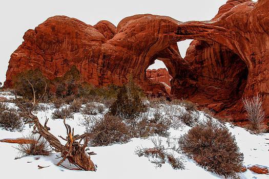 John McArthur - Double Arch in Snow